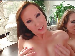 Doggystyle sex and sucking in pov threesome tubes
