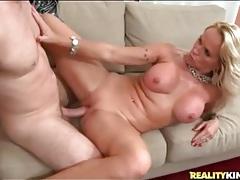 Big boobs blonde milf sits on a hard cock tubes