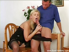 Smoking blonde gives best blowjob tubes