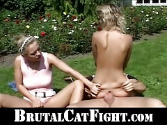 The catfight turned into a sexual punishment tubes