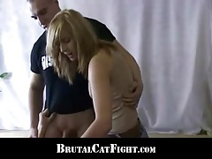 Slutty hairdresser punished with a catfight by an unsatisfied whore tubes