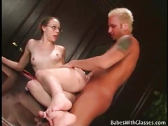 Young cutie in a pair of glasses fucked hardcore tubes