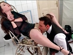 Rough anal sex and choking with bound slut tubes