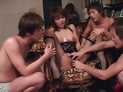 Japanese girl in bondage fondled by group of guys tubes