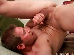 Flexible guy gives a fantastic self facial tubes
