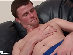 Pierced young amateur is sexy in his soccer clothes tubes