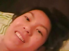 Moaning asian filmed with cock in her box tubes