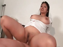Chubby body nurse sucks dick and gets fucked tubes