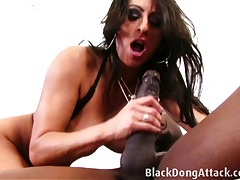 Brunette is getting fucked by a bbc tubes