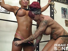 Dani and brandimae girl girl in the gym tubes