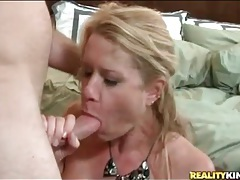 Horny blonde milf fucked doggystyle by big cock tubes