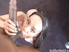Big breasted ebony fucked on pool table tubes