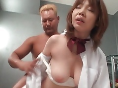 Cute japanese chick fucked from behind tubes