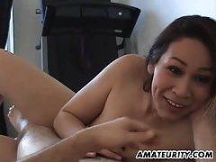 Amateur girlfriend with big tits sucks and fucks tubes
