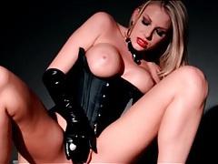 Lesbian dominatrix danielle maye rides face dildo tubes