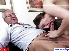 Old euro dude fucking two pussies tubes