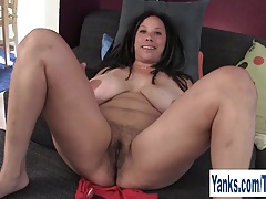 Busty milf shannon rubbing her hairy cunt tubes