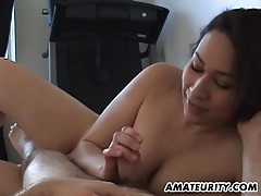 Amateur girlfriend with big tits sucks and fucks tubes