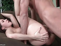 Sucking on her toes and fucking her wet pussy tubes