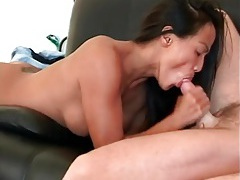 Asian giving hot handjob and sucking a dick tubes