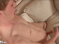 Twink with tattooed arms fucks fleshlight and cums tubes
