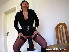 Only the biggest dildos can satisfy her insatiable hole tubes