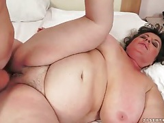 Cocksucking bbw fucked in her hairy pussy tubes