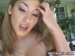 Delicious asian floozy loves hardcore anal sex tubes