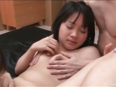 Two japanese girls give a blowjob to lucky guy tubes