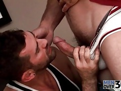 Tall sexy man receives sexy gay blowjob tubes
