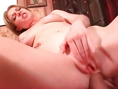 Slut in cute pigtails fucked up the butt tubes