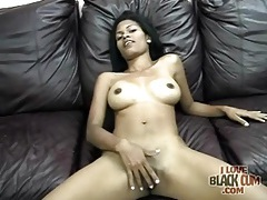Solo black girl has incredibly sexy tits tubes