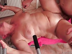 Granny on her back fucked hardcore tubes