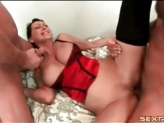 Two cumshots coat the big titty milf slut tubes