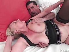Big breasts granny fucked in her hot pussy tubes