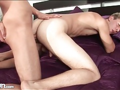 Fit guy fucked doggystyle by bareback cock tubes