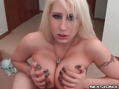Big tits surround his dick for a hot titjob tubes