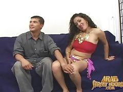 Arab girl teases two guys and blows them tubes