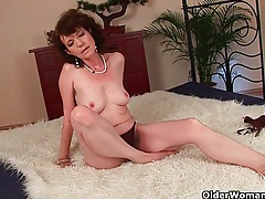Hairy grannies unload a cock on their face and tits tubes