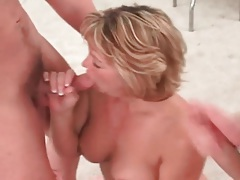 Cute mature blonde on her knees sucking dicks tubes