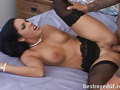 Veronica gets fucked in her ass tubes