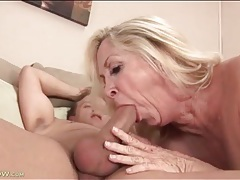 Bald mature pussy fucked hard by his shaved cock tubes