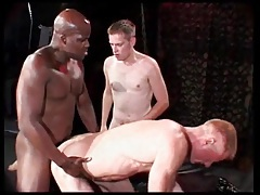 Black top pounds the hell out of white asshole tubes