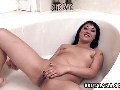 Dainty asian cutie enjoys hardcore anal sex tubes