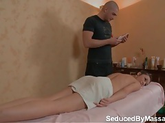 Teen in yellow panties receives a lovely massage tubes