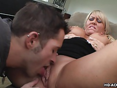 Dreamy blonde milf enjoys wild pussy stuffing tubes