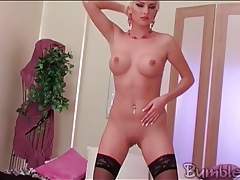 Bleach blonde has breathtaking big perky tits tubes