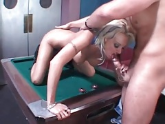 Pornstar monica mayhem fucked on pool table tubes