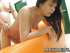 Sachiko matsushita - japanese cougar enjoying a young cock tubes