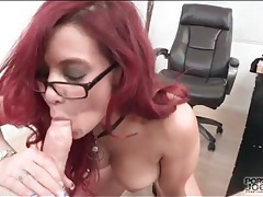 Business babe strips and sucks dick pov tubes